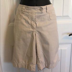 White House black market  cream colored shorts